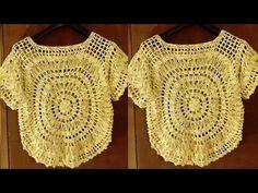 Blusa en Crochet Fácil Paso a Paso (PARTE#1) Para Todas las Tallas - YouTube