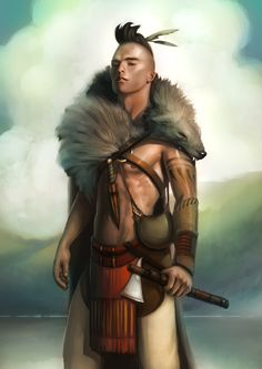 Kelly Perry Art & Illustration - Gallery - Mohawk Warrior