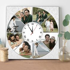 Looking for Clock ? Get Personalized Clocks with your Personalized Photos only at Zestpics Photo Wall Clocks, Photo Clock, Personalized Clocks, Personalized Photo Frames, Diy Clock, Clock Decor, Wall Clock With Pictures, Best Gifts For Couples, Wall Clock Online