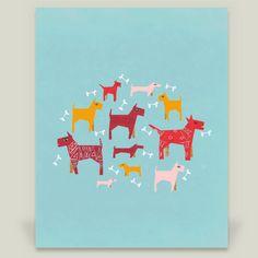 Fun Indie Art from BoomBoomPrints.com! https://www.boomboomprints.com/Product/elenor/Dogs_Fun/Art_Prints/8x10_Print/