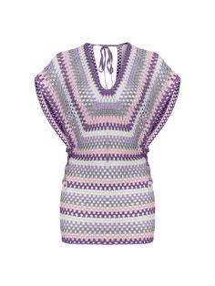 Crochet Blusas V-Neck Crochet Mini Striped Dress - Crochet Bodycon Dresses, Black Crochet Dress, Crochet Blouse, Knit Crochet, Crochet Tops, Hand Crochet, Mode Crochet, Crochet Girls, Prom Dress Shopping