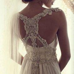 """The detailed hand beadwork of the Corrina dress. Image via @35mm_wedding_photography @meloniesantos @melodyle @391milkandhoney #bride #bridaldress #pretty #lace #bohobride"" Photo taken by @annacampbellbridal on Instagram, pinned via the InstaPin iOS App! http://www.instapinapp.com (03/14/2015)"