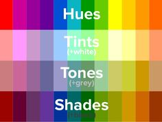 Image result for colour wheel tints and shades