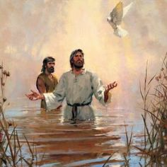 Jesus, John, and the Holy Spirit.