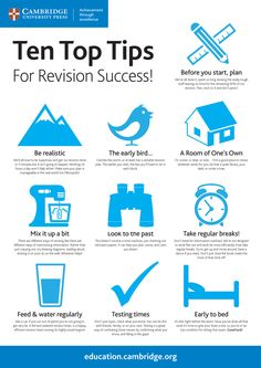 Where's your favourite place to revise? In the library, in your bedroom, under a tree? It's revision time, and we're thinking of you; revising can be tough! Take a look at our infographic 'Ten Top Tips for Revision Success!' and see if we can help.