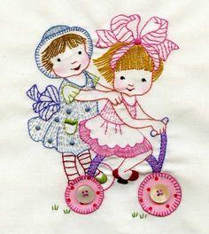 Todos os tamanhos | Embroidered blocks from Fun Girls Quilt | Flickr – Compartilhamento de fotos!