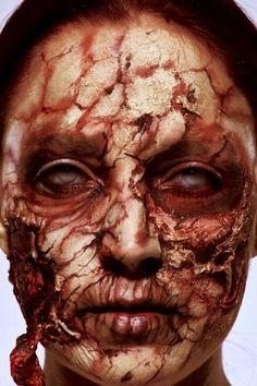 Cracked and peeling skin make-up! Gah!