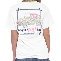 Southern Girl Prep Living the Prep Life Tee White