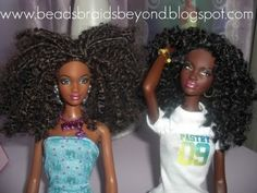 How to give natural hair to Barbie momma7