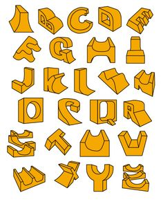 Skate ramp alphabet