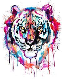 Resultado de imagem para tiger watercolor tattoo