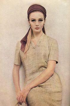 Ina Balke photographed by Melvin Sokolsky for Harper's Bazaar, January 1963.