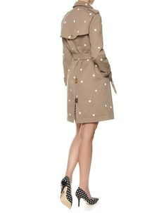 Taupe Polka Cotton Trench Coat | Sophie Hulme | Avenue32