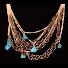 silk and turquoise Parijata Designs  www.parijatarocks.com
