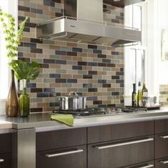 tiling backsplash {beveled subway tile} | two delighted | tiles