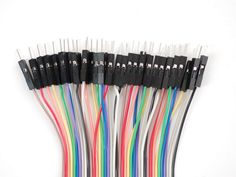 "Premium Male/Male Jumper Wires - 40 x 12"" (300mm)"