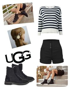 """The New Classics With UGG: Contest Entry"" by madde12 ❤ liked on Polyvore featuring UGG, LE3NO, Yves Saint Laurent and ugg"