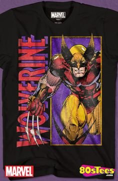 Jim Lee Wolverine T-Shirt: Marvel Comics Mens T-Shirt Wolverine  Geeks:  These celebrity characters have been seen in films and comic books and the design and illustration of the art on this product makes it a must have to your men's fashion t-shirts.