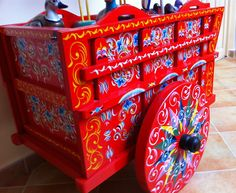 Painted hand cart