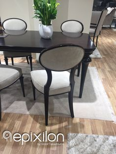 """New collection... Dining table set """"Guenta"""" with chairs #epixilon #creations #dining #classic #chairs #table #highgloss"""