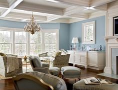 Coffered Ceiling Design - heck yes! Traditional Bedroom Decor, Traditional House, Ceiling Decor, Ceiling Design, Ceiling Ideas, New York Bedroom, Home Interior, Interior Design, Interior Trim