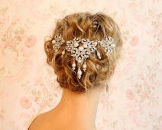 crystal veil, wedding hair accessories Bridal hair accessory wedding accessories veil bridal veils Deco Divine Marlene hair clip hp5058