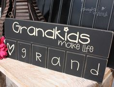 Grandkids sign - great site for ordering unfinished crafts