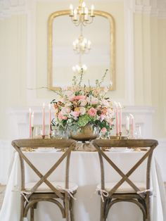 Simple wedding centerpieces information - Make your flowers get noticed by inclu. Simple wedding centerpieces information - Make your flowers get noticed by including different heights. Surround the tal. Blush Wedding Centerpieces, Blush Wedding Flowers, Floral Centerpieces, Chic Vintage Brides, Vintage Romance, Vintage Weddings, Autumn Bride, Blush And Gold, Simple Weddings
