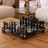 Novica.com $114.94 Recycled Auto Parts Chess Set--So very cool.