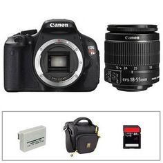 Canon   EOS Rebel T3i Digital Camera with 18-55mm f/3.5-5.6 Lens Basic Accessory Kit