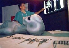 In the 1990's English cameraman Ray Santilli claimed to own footage of an alien autopsy performed after the 1947 Roswell Incident.  Fox aired a portion of it, but in 2006, Santilli 'fessed up to the hoax.  All the alien innards in the film were actually sheep brains, raspberry jam and chicken entrails.