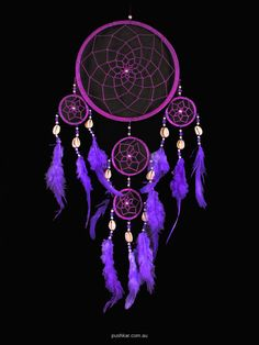 purple dream catcher | Purple With Shell (16cm), Medium, Dream Catcher