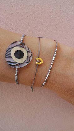 Evil eye bracelet. Evil eye charm bracelet. Greek evil eye