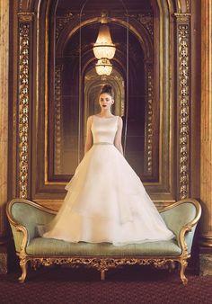 Paloma Satin and Organza Wedding Dress.