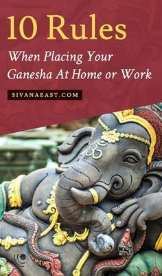 Don't Forget These 10 Rules When Placing Your Ganesha At Home Or Work. Snuggling up to Lord Ganesha the stuffies right now, divinity protected touch this Ganesh Statue, Shri Ganesh, Lord Ganesha, Ganesh Yantra, Lord Krishna, Yoga Studio Design, Yoga Inspiration, Om Gam Ganapataye Namaha, Little Buddha