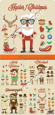 #Hipster #Christmas Christmas 2019, Xmas, Christmas Ideas, Hipster Illustration, Hipster Art, Christmas Printables, Happy Holidays, Merry, Graphic Design