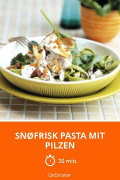 Snøfrisk Pasta w/ mushrooms Pasta, Eat Smarter, Potato Salad, Mashed Potatoes, Food Photography, Stuffed Mushrooms, Beef, Meals, Ethnic Recipes
