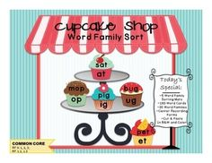 Cupcake Shop Word Family Sort
