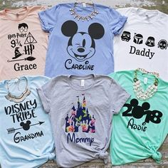 Your whole family is going to love these Family Vacation Tees! Family Vacation Shirts, Disney Vacation Shirts, Disney Shirts For Family, Disney Tees, Disney Diy, Cute Disney, Disney Style, Disney Cruise, Vacation Pics