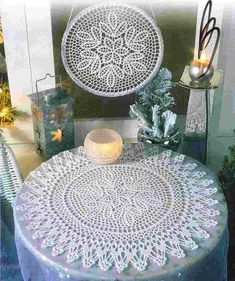 """Photo from album """"Diana Creatif 126 small"""" on Yandex. Diana, Shabby, Doily Patterns, Crochet Doilies, Yandex Disk, Views Album, Table Runners, Dream Catcher, Projects To Try"""