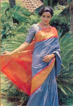 Image result for young hema malini saree
