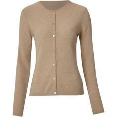 Linea Cashmere Crew Neck Cardigan, found on #polyvore. #sweaters #women