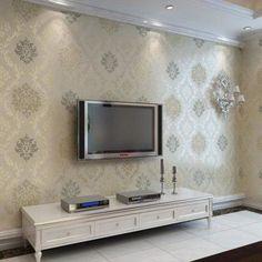 papel de parede para sala de tv estilo europeu