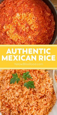 Mexican Rice Recipes, Mexican Cooking, Mexican Dishes, Homemade Mexican Rice, Simple Mexican Rice Recipe, Mexican Fiesta Food, Vegetarian Mexican Rice, Cuban Recipes, Authentic Mexican Rice