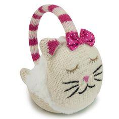 Aroma Home #Cat Knitted Animal Ear Muffs - aldiss.com