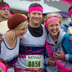 TV Personality Dermot O'Leary running the Bath Half Marathon for CoppaFeel charity