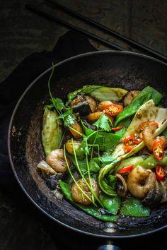 Prawn and Eggplant Hoisin Stir-Fry