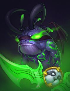I just love this. A demon hunter-murloc. Just awesome.