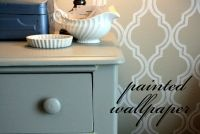 Painted Wallpaper, love the idea but probably pretty time consuming! Cute though! Includes template