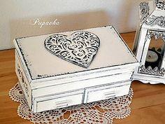 Krabičky - Šperkovnička schabby chic - 6294685_